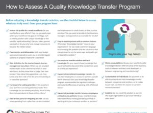 Podcast: Knowledge Transfer Reduces Risk